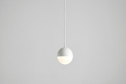 Dot pendant, small white