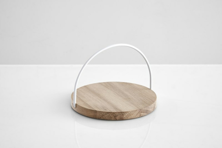 Woud Loop tray small, white