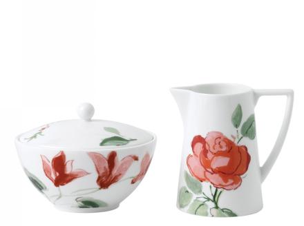 Wedgwood Jasper Conran Floral Fløteskål & Sukkerskål