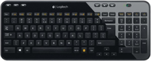 Wireless Keyboard K360 - Tastatur - Nordisk - Svart