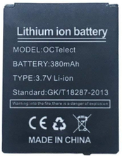 1 kpl Älykello-akku LQ-S1 ladattava litiumparisto, jonka kapasiteetti on 380MAH