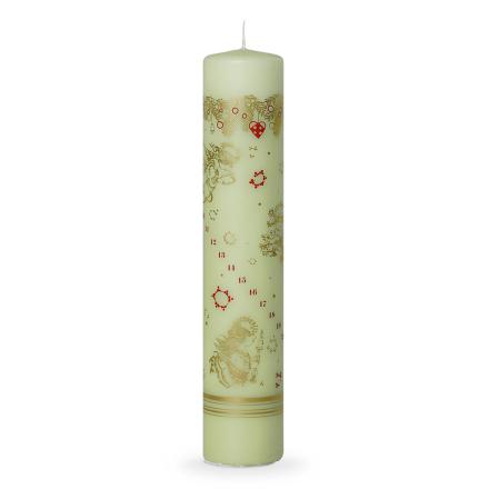 Bjørn Wiinblad Jul Kalenderlys grønn 25 cm