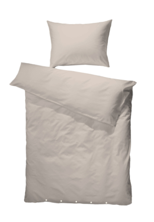 Borås Cotton Sengesett Loui 140 x 200 / 50 x 70 Sand w/beig button
