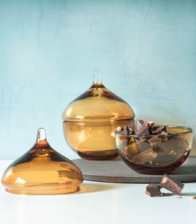 Magnor Drops Bonbonniere Krukke m / Lokk Amber 130 mm