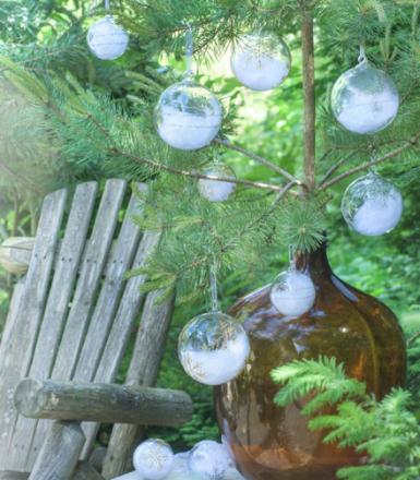 Magnor Himmel På Jord Julekule Sølv m / Små Stjerner 120 mm