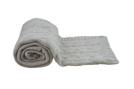 Borås Cotton Pledd Mont Blanc 130 x 170 Sand