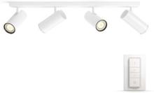 Hue Buratto Bar/Tube 4x5.5W Spots - White