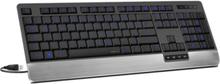 LUCIDIS Comfort Illuminated - Tastatur - Nordisk - Svart