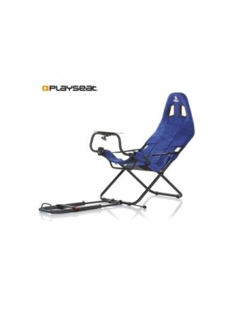 Challenge Playstation Edition Krzes?o wy?cigowe - Niebieski - Alkantara - Do 120 kg