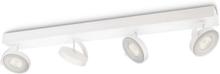 CLOCKWORK bar/tube white 4x4.5W SELV Spot Skinner