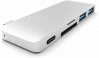 Hub 2 x USB 3.0 + 1 x USB 3.0 (charger) USB 3.1 Type C connection desktop silver USB Hub - USB 3.0 - 3 porte - Silver