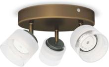 Fremont plate/spiral bronze 3x4W 230V Spot Skinner