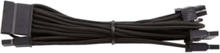 Premium Individually Sleeved SATA Cable Type 4 (Generation 3) - Black