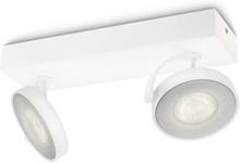 CLOCKWORK bar/tube white 2x4.5W SELV Spot Skinner