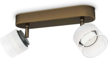 Fremont bar/tube bronze 2x4W 230V Spot Skinner
