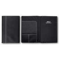 Dagbokskalender k.läder svart