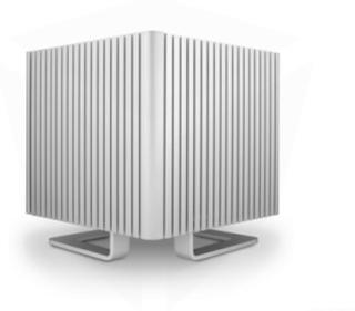 DB4 Fanless Cube-Silver - Kabinett - Cube - Sølv