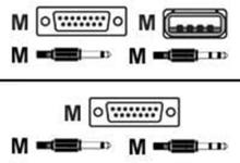USB KVM-kabel 1m
