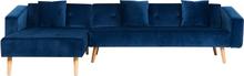 Sohva samettinen sininen VADSO