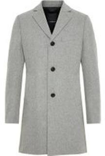 J.LINDEBERG Wolger Compact Melton Wool Coat Man Grå