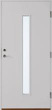 Polardörren Ytterdörr Stripe Centrerad Klarglas -100-Ljusgrå-Höger