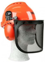 Oregon Safety Helmet with Earmuffs and Visor