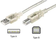 USB 2.0 A - B - Transparent - 5m