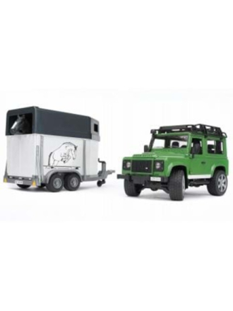 Land Rover Defender with horse trailer