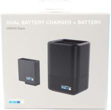Dual Battery Charger + Battery (HERO7 Black/HERO6 Black/HERO5 Black) Powerbank - Czarny - 1220 mAh