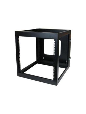 12U 22in Depth Hinged Open Frame Wall Mount Server Rack