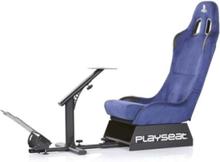 Evolution Playstation Edition Krzes?o wy?cigowe - Niebieski - Alkantara - Do 120 kg