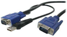 2-i-1 Ultra Thin KVM-kabel - tangentbord / video / mus / USB-kabel