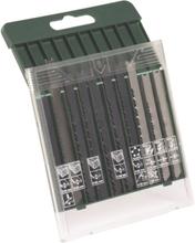 10-delers sagbladkassett, tre/metall/plast (U-tange)