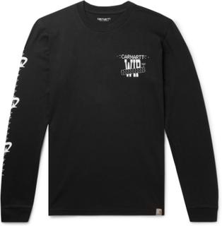 Carhartt WIP - Printed Cotton-jersey T-shirt - Black - L,Carhartt WIP - Printed Cotton-jersey T-shirt - Black - M,Carhartt WIP - Printed Cotton-jersey T-shirt - Black - XL,Carhartt WIP - Printed Cotton-jersey T-shirt - Black - XS,Carhartt WIP - Printed Co