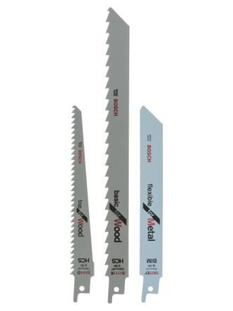 """3-piece """"WM"""" Sabre saw blade set"""