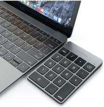 Aluminum Slim Rechargeable Wireless Bluetooth Keypad - Space Grey - Numpad - Grau