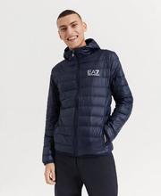 EA7 Emporio Armani Jacka Light Down Hooded Jacket Blå
