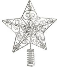 Julgransstjärna, glittrig