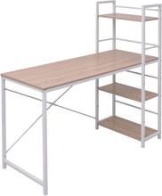 vidaXL Skrivbord med 4 hyllplan ek