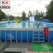 Backyard Swimming Pool Above Ground Metal Frame Pool With Ladders