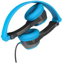 JLab Audio JBuddies Folding Kids, blue On ear kids headphone Kids safe on-ear headphones with an 85db volume limiter