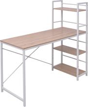 vidaXL Pöytä 4-Kerroksisella Kirjahyllyllä Tammi
