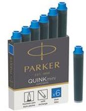 Parker Bläckpatron för reservoarpenna, Quink Mini, blått bläck som kan tvättas bort