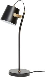 HÜBSCH bordlampe - sort metal og messing
