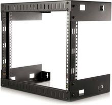 8U Väggmonteringsrack med öppna ramar för utrustning – 12 tum djup