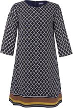 Kleid 3/4-Arm Samoon mehrfarbig