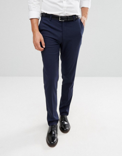 ASOS DESIGN skinny smart trousers in navy - Navy