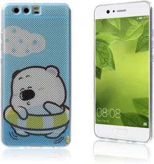 Huawei P10 Plus deksel laget av plastikk - Svømmende bjørn