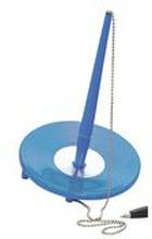 BALLOGRAF Kulpenna, Epoca Bank Deskset, mediumspets på 1 mm, ljusblå pennkropp med blått bläck