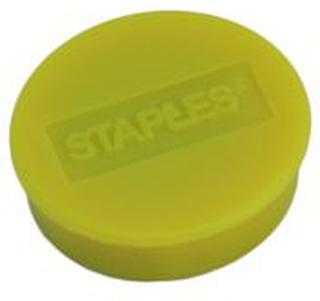 Staples Staples Magnetknappar 25mm gul